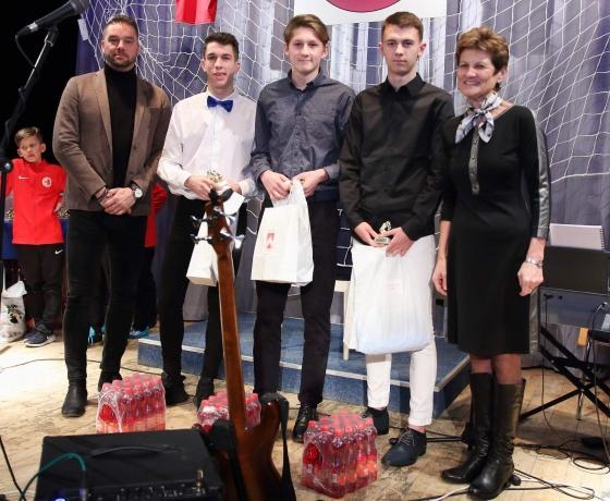 z leva: Petr Švancara, Dominik Baňa, Štěpán Alexa, Alexandr Rek